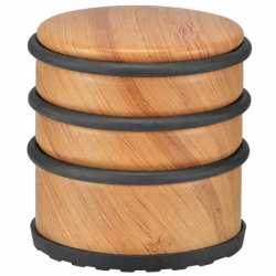 Bamboe deurstopper 7 cm metaal