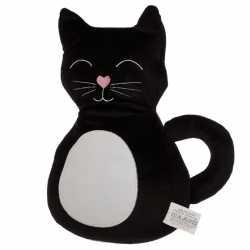 Dieren deurstopper zwarte kat/poes 25 cm
