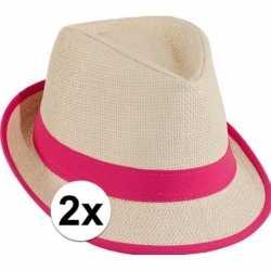 Roze toppers strandhoedjes 2 stuks