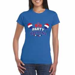 Toppers blauw toppers big party balloons dames t shirt officieel