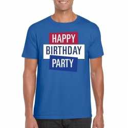 Toppers blauw toppers happy birthday party heren t shirt officieel