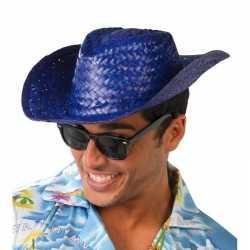 Toppers blauwe cowboy/strohoed volwassenen