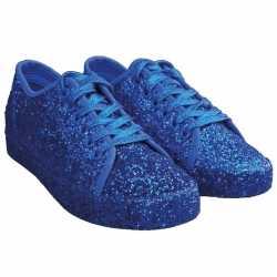 Toppers blauwe glitter disco sneakers/schoenen dames