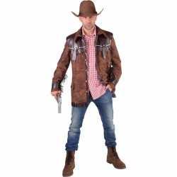 Toppers bruine cowboy jas heren