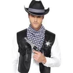 Toppers cowboy verkleed set zwart heren