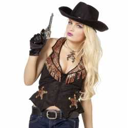 Toppers cowboy vestje dames