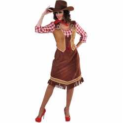 Toppers cowgirl jurk geruite blouse dames