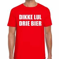 Toppers dikke lul drie bier heren t shirt rood