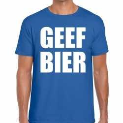 Toppers geef bier heren t shirt blauw