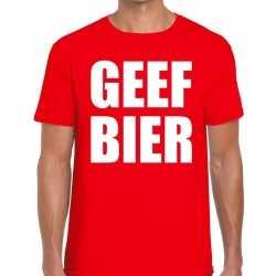 Toppers geef bier heren t shirt rood