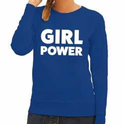 Toppers girl power tekst sweater blauw dames