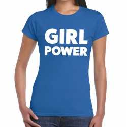 Toppers girl power tekst t shirt blauw dames