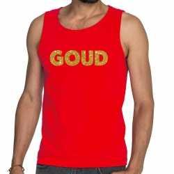 Toppers goud glitter tekst tanktop / mouwloos shirt rood heren