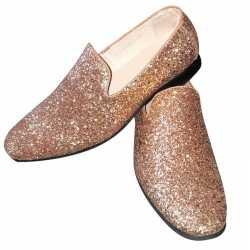 Toppers gouden glitter disco instap schoenen heren