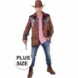 Toppers grote maten cowboy jas bruin heren