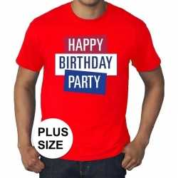 Toppers grote maten rood toppers happy birthday party t shirt officie