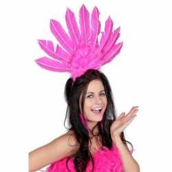 Toppers haarband roze veren dames