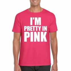 Toppers i am pretty in pink shirt roze heren