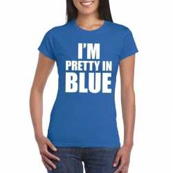 Toppers i'm pretty in blue t shirt blauw dames