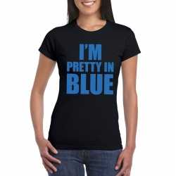 Toppers i'm pretty in blue t shirt zwart dames