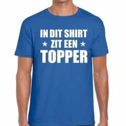 Toppers in dit shirt zit een topper t shirt blauw heren