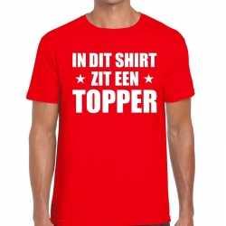 Toppers in dit shirt zit een topper t shirt rood heren