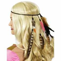 Toppers indianen hoofdband veren