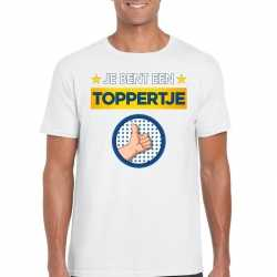 Toppers je bent een toppertje t shirt wit heren