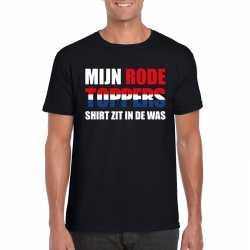 Toppers mijn rode toppers shirt zit in de was t shirt zwart heren