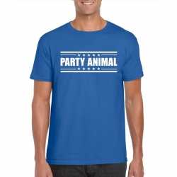 Toppers party animal t shirt blauw heren