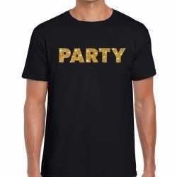 Toppers party goud glitter tekst t shirt zwart heren