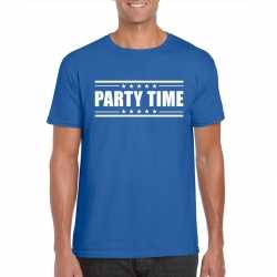 Toppers party time t shirt blauw heren