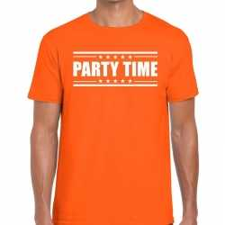 Toppers party time t shirt oranje heren