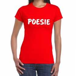 Toppers poesie fun tekst t shirt rood dames
