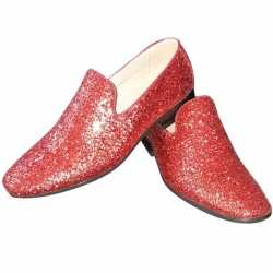 Toppers rode glitter disco loafers/instap schoenen heren