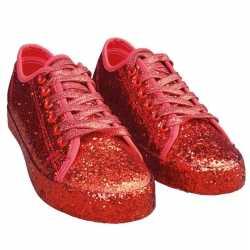Toppers rode glitter disco sneakers/schoenen dames
