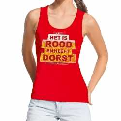 Toppers rood het is rood heeft dorst tanktop / mouwloos shirt dames