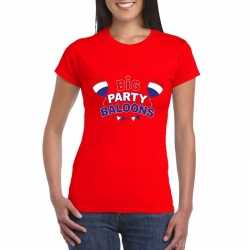 Toppers rood toppers big party balloons dames t shirt officieel