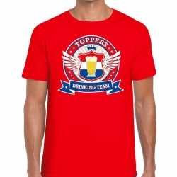 Toppers rood toppers drinking team t shirt heren