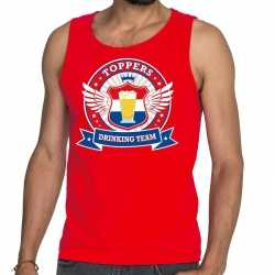 Toppers rood toppers drinking team tankop / mouwloos shirt heren
