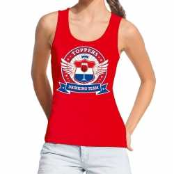 Toppers rood toppers drinking team tanktop / mouwloos shirt dames