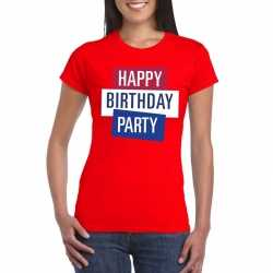 Toppers rood toppers happy birthday party dames t shirt officieel