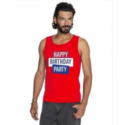 Toppers rood toppers happy birthday party mouwloos shirt heren