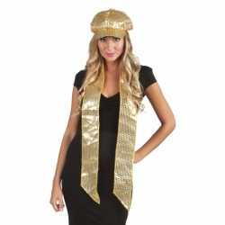 Toppers Sjaal gouden pailletten