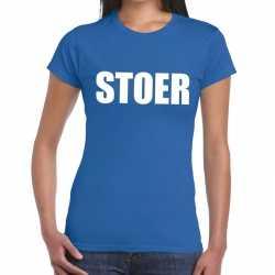 Toppers stoer tekst t shirt blauw dames
