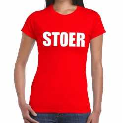 Toppers stoer tekst t shirt rood dames