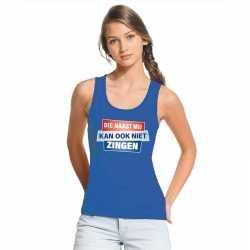 Toppers tanktop / mouwloos kan ook niet zingen shirt blauw dames
