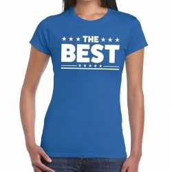 Toppers the best tekst t shirt blauw dames