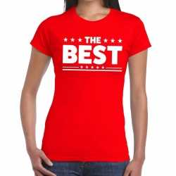 Toppers the best tekst t shirt rood dames