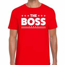 Toppers the boss heren t shirt rood